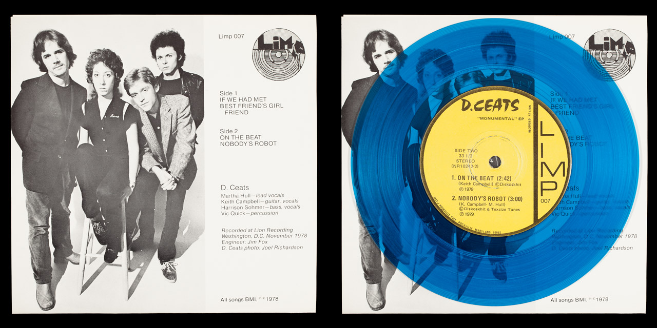 D.Ceats Monumental back cover and vinyl on Limp Records