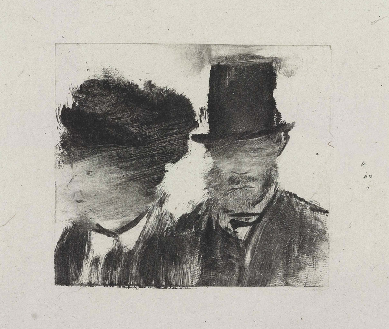 Edgar Degas: Heads of a Man and Woman, sold at Christies