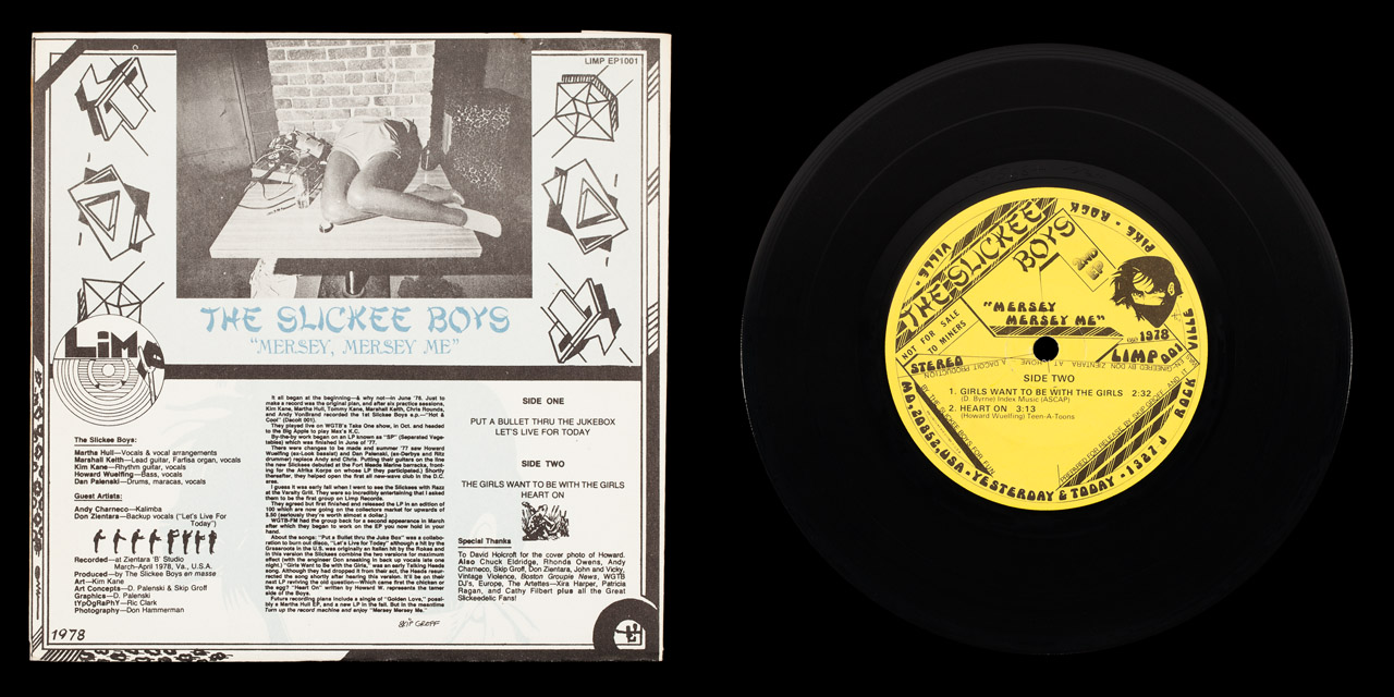 Slickee Boys Mersey Mersey Me first press back cover and vinyl on Limp Records
