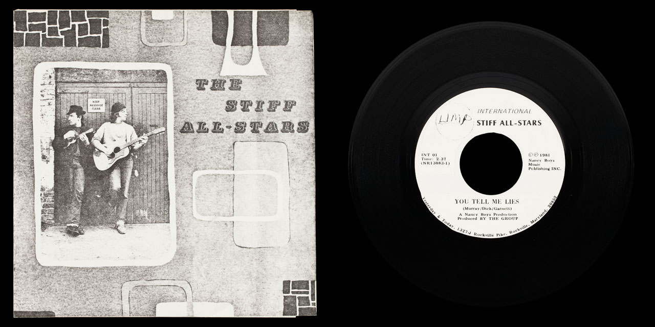 Stiff All Stars You Tell Me Lies test press 1 front on Limp Records